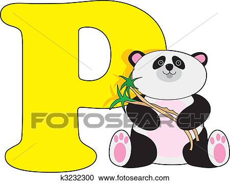 stock illustrations of letter p with a panda k3232300 search rh fotosearch com letter p clipart black and white letter c clipart