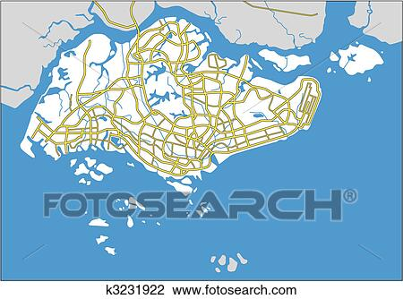 Clipart of singapore k3231922 - Search Clip Art, Illustration Murals ...