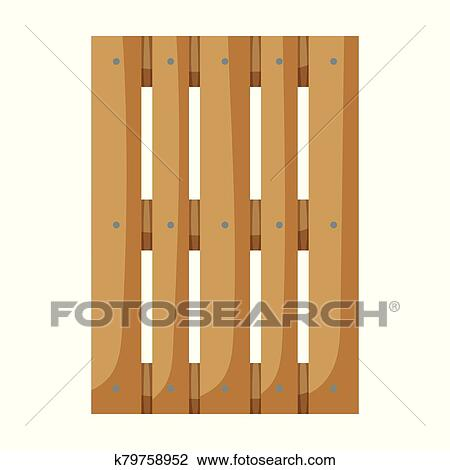 Wooden pallet vector icon. Cartoon vector icon isolated on ...