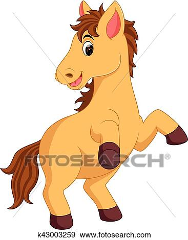 clip art of cute horse cartoon k43003259 search clipart rh fotosearch com cute horse clipart free