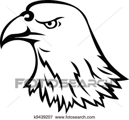 clip art of eagle head tattoo k9439207 search clipart rh fotosearch com eagle head clipart free eagle head vector clipart