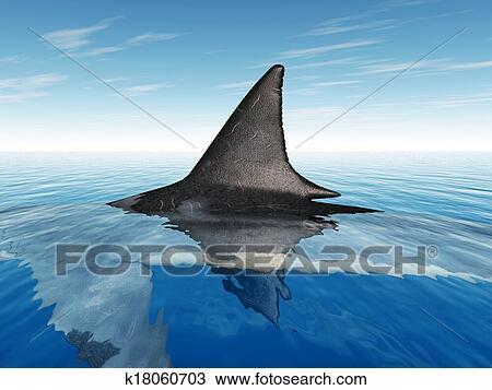 Disegno gran squalo bianco pinna k18060703 cerca for Disegno squalo bianco