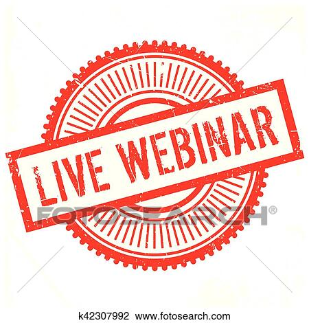 clipart of live webinar stamp k42307992 search clip art
