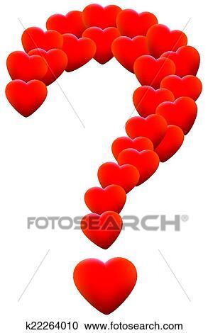 Clipart Of Love Hearts Question Mark K22264010 Search Clip Art