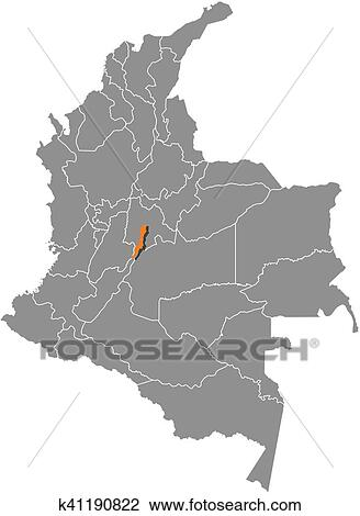 Map - Colombia, Bogota Clipart