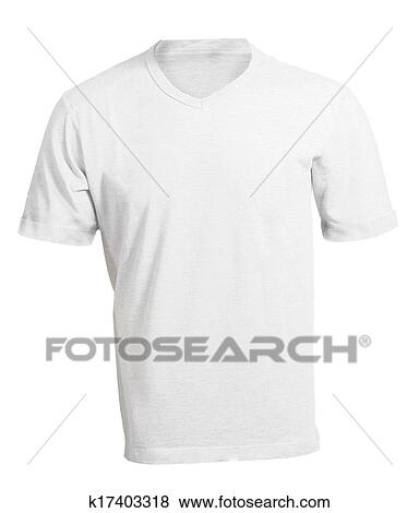 Pictures Of Mens Blank White V Neck Shirt Template K17403318
