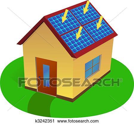 clipart of solar energy house k3242351 search clip art rh fotosearch com renewable energy clipart renewable energy clipart