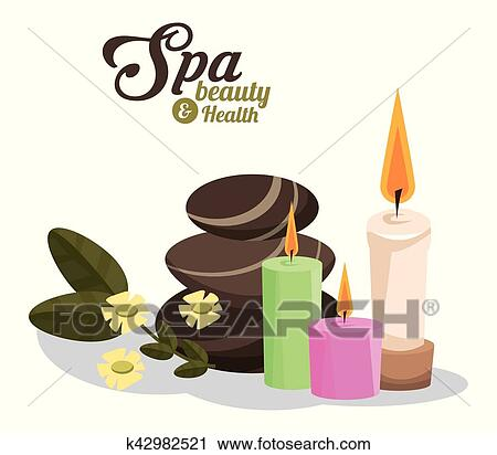 Spa Aromatherapy Candles And Frangipani Flower, Photo-realistic.. Royalty  Free Cliparts, Vectors, And Stock Illustration. Image 66486699.