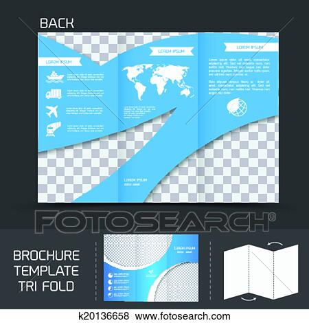 clip art of brochure template tri fold k20136658 search clipart