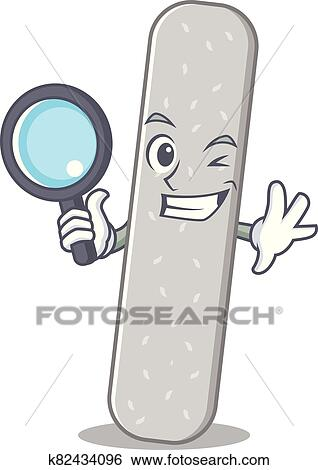 Cartoon mascot design of emery boards super Detective