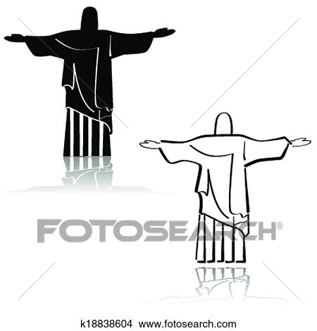 Dessin Christ Redempteur clipart - christ rédempteur k18838604 - recherchez des clip arts