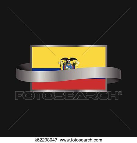 Easter Island Rapa Nui flag Ribbon banner design Clip Art ...