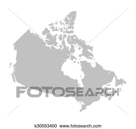 Map Of Canada Eps.Clipart Of Grey Map Of Canada K30053400 Search Clip Art