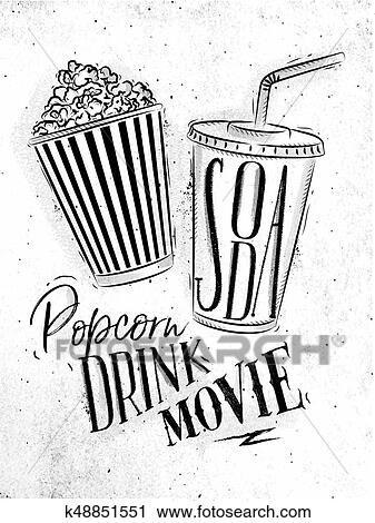 Poster Soda Popcorn Clipart K48851551 Fotosearch
