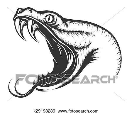 Clip art serpente testa k29198289 cerca clipart for Serpente nero italiano