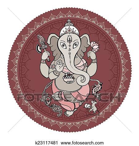 ganesha main dessiné illustration clipart  k23117481