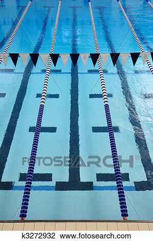 Indoor Swimming Pool Lanes Stock Image