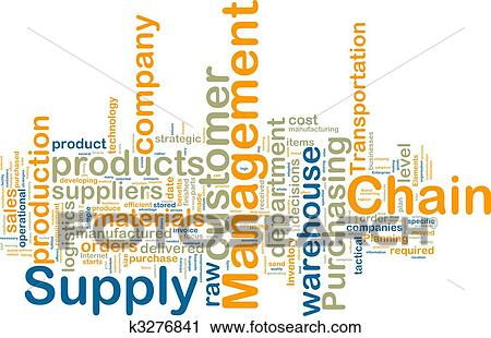 Clipart Of Supply Chain Management Wordcloud K3276841