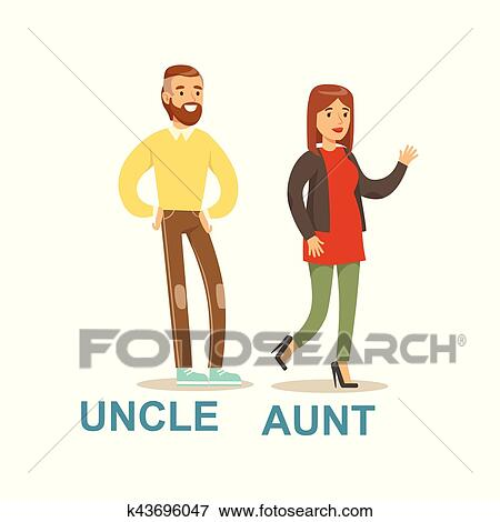 clip art of uncle and aunt happy family having good time together rh fotosearch com ant clip art free ant clip art with alphabet