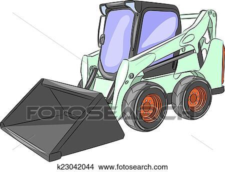 Vector Mini Excavator Clipart k23042044