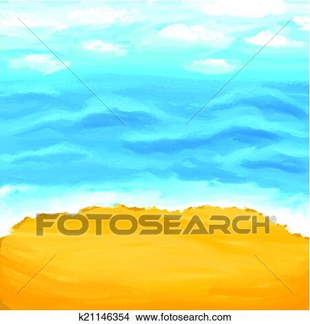clipart of beach sea sand summer background k21146354 search rh fotosearch com hawaiian beach background clipart sunny beach background clipart
