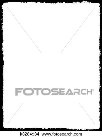 Drawings of Border, frame, deckle edge k3284534 - Search Clip Art ...