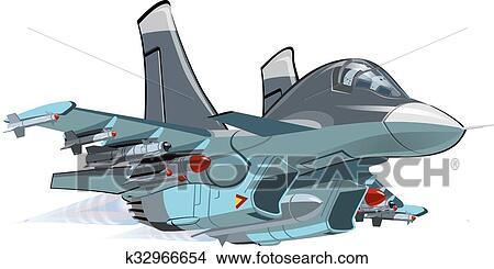 Cartone animato aeroplano militare clipart k32966654 fotosearch