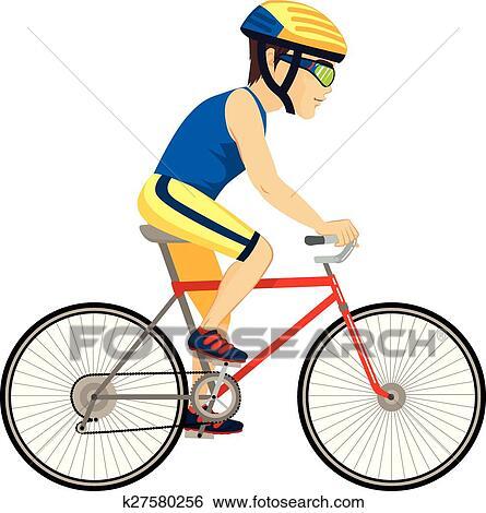 Clipart cycliste homme professionnel k27580256 - Dessin cycliste ...