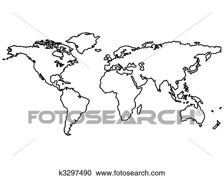Stock illustrations of black world map outlines isolated on white stock illustration black world map outlines isolated on white fotosearch search clipart publicscrutiny Images