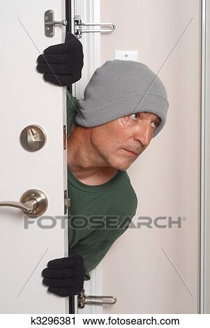 stock photography of burgler k3296381 search stock photos