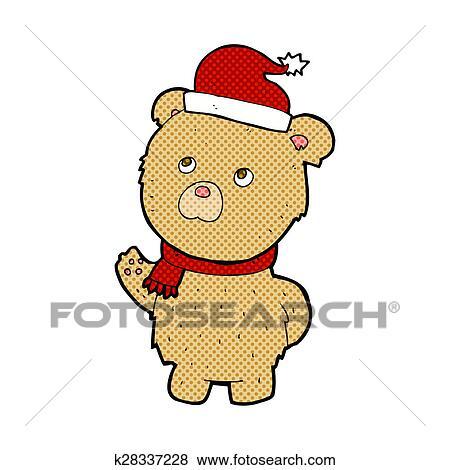 Banque D Illustrations Dessin Anime Noel Ours Peluche K28337228