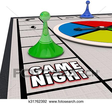 clip art of game night family time fun competition board pieces rh fotosearch com family game night clipart free board game night clipart