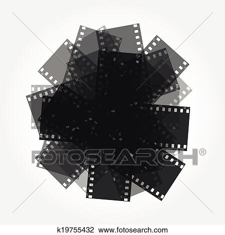 Clipart Of Trimming Of The Film Vector Background K19755432 Search