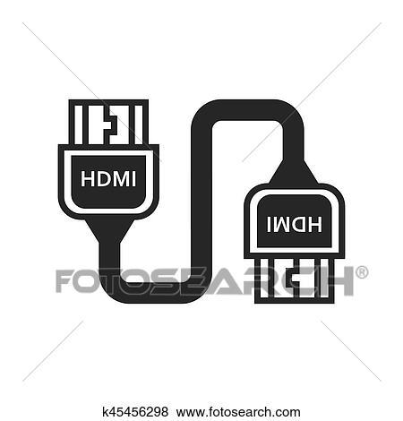 twin hdmi adapter black icon clip art k45456298 fotosearch https www fotosearch com csp329 k45456298