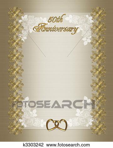clip art of 50th anniversary invitation k3303242 search clipart