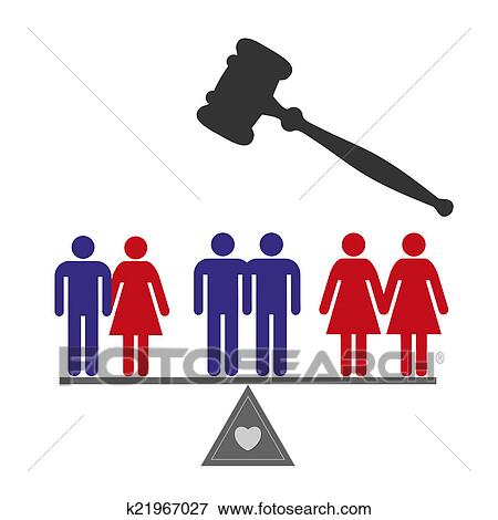 Stock Illustration Of Equal Rights K21967027 Search Eps Clipart
