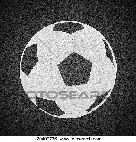 Fussball Ball Malen Auf Asphalt Struktur Stock Fotograf