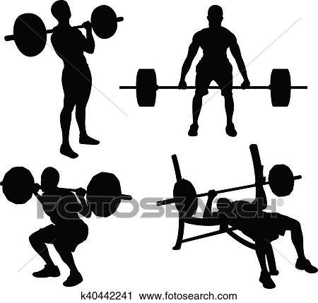 Weight lifting Clipart | k40442241 | Fotosearch