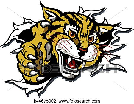 Wildcat Mascot Clipart K44675002 Fotosearch