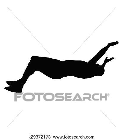 人 倒れる クリップアート切り張りイラスト絵画集 K29372173