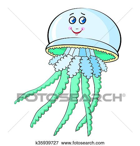Meduse Dessin Anime Clipart K35939727 Fotosearch