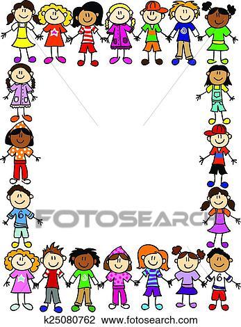 Clipart Seamless Bambini Amicizia Modello 2 K25080762 Cerca