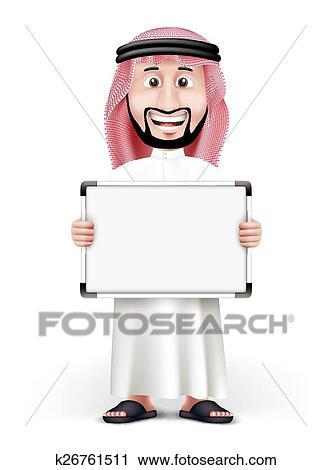3d ハンサム サウジアラビア人 アラビア人 人 クリップアート