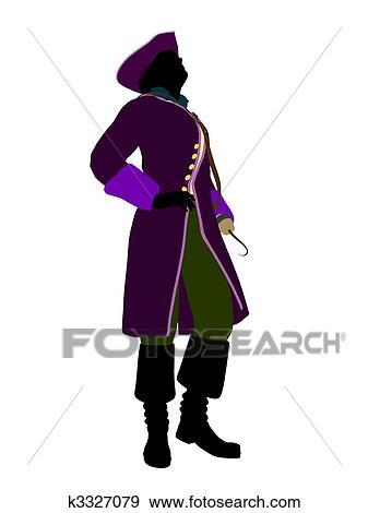 arquivos de ilustração capitão gancho silueta ilustração