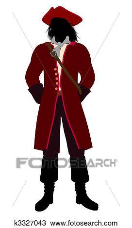 desenho capitão gancho silueta ilustração k3327043 busca de