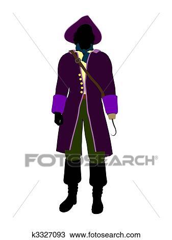 desenho capitão gancho silueta ilustração k3327093 busca de