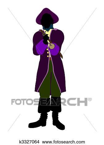 desenhos capitão gancho silueta ilustração k3327064 busca de