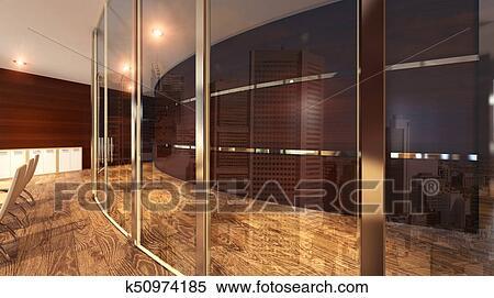 Bureau moderne rectangulaire verre noir meubles bureau