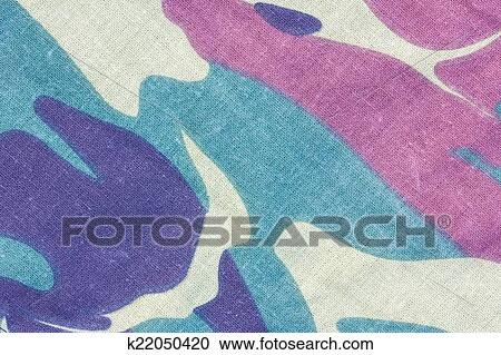 Closeup Of Camouflage Fabric Texture Background Stock Image