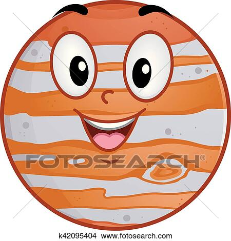 clipart of mascot planet jupiter k42095404 search clip art rh fotosearch com jupiter god clipart jupiter planet clipart
